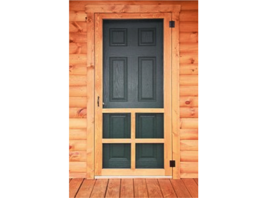swinging wood door