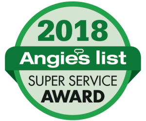 Angie's List 2018 Super Service Award badge