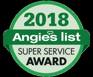 Angie's List 2018 Super Service Award badge