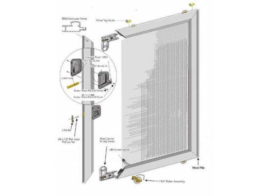 Alumco Milgard Heavy Duty Extruded Aluminum Patio Slider