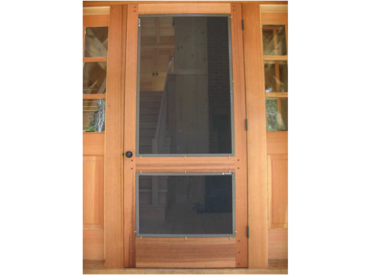 Wood Frame Swinging Door Screenman Mobile Screening Service